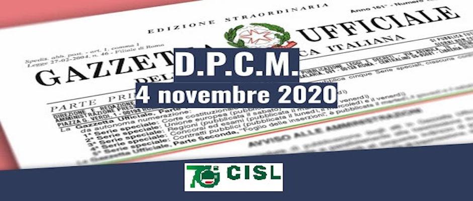 DPCM 3 Novembre