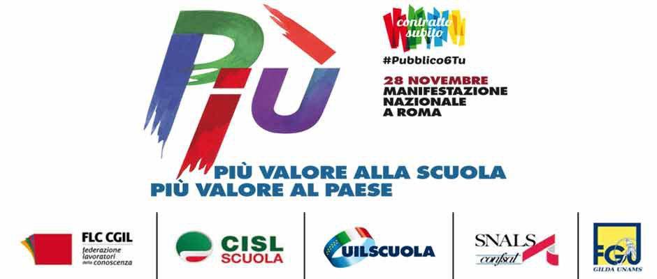 28 NOVEMBRE 2015: A ROMA PER IL RINNOVO DEL CONTRATTO