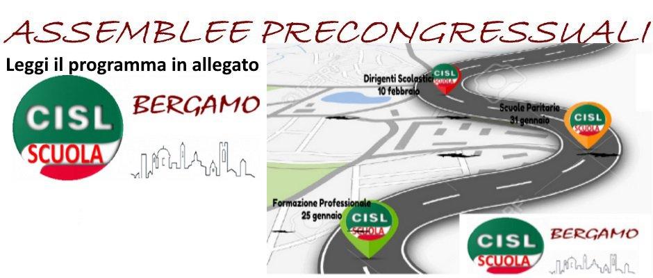 CISL SCUOLA BERGAMO SEBINO BERGAMASCO:  ASSEMBLEE PRECONGRESSUALI