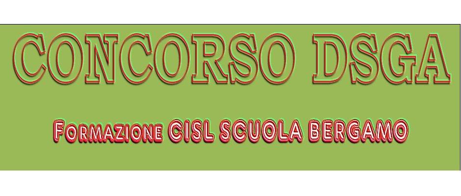 CONCORSO DSGA - FORMAZIONE CISL SCUOLA