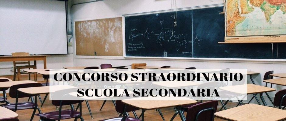 CONCORSO STRAORDINARIO E PROCEDURA ABILITANTE SCUOLA SECONDARIA DI I° E II° GRADO