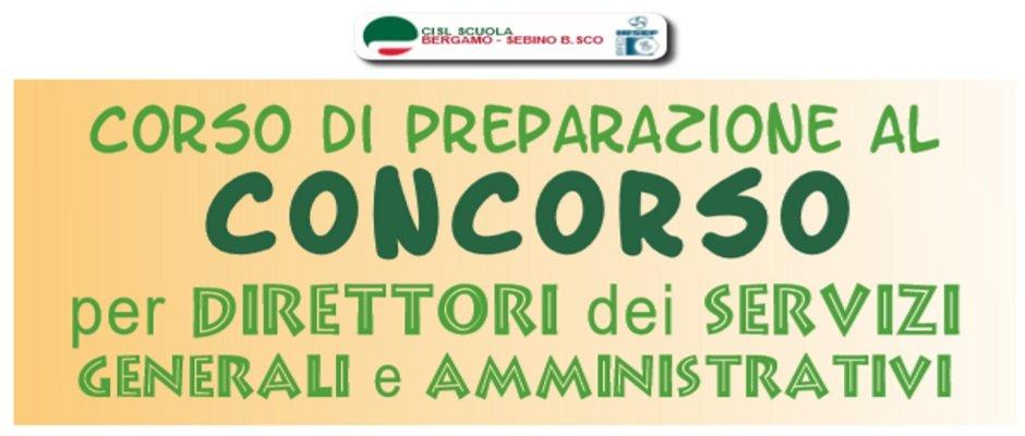 CORSO DI PREPARAZIONE AL CONCORSO PER DSGA
