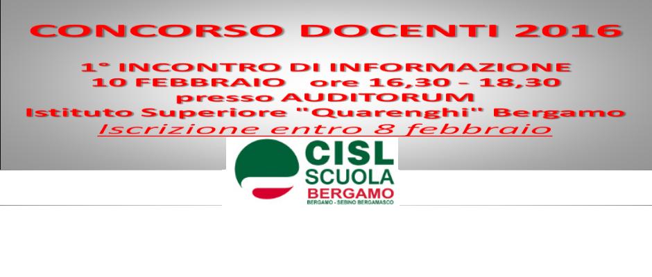 CONCORSI DOCENTI 2016: CORSI DI FORMAZIONE SU PIATTAFORMA IRSEF/IRFED