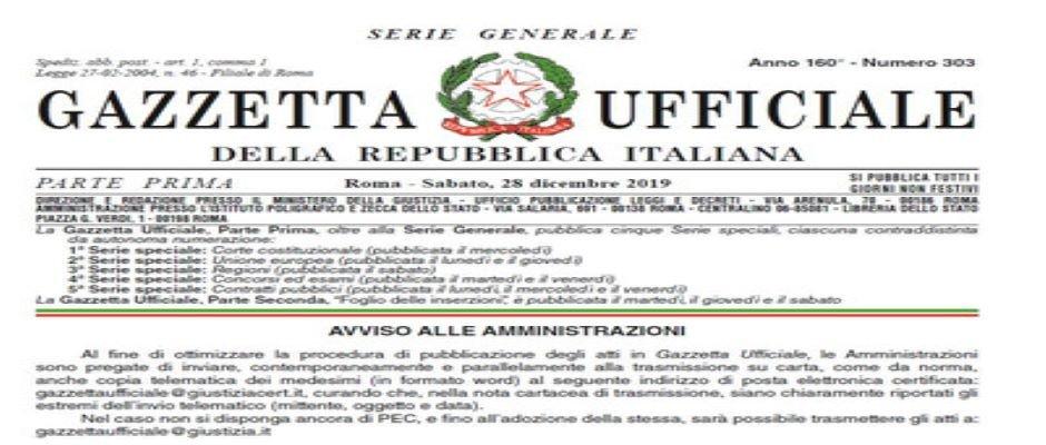 DECRETO SCUOLA 126/2019, IN GAZZETTA UFFICIALE LA LEGGE DI CONVERSIONE