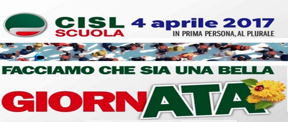 4 APRILE 2017, INIZIATIVE CISL SCUOLA IN TUTTA ITALIA PER DARE GIUSTO VALORE AL LAVORO DEL PERSONALE ATA