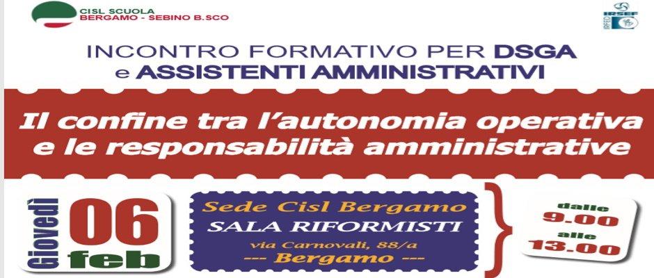 INCONTRO FORMATIVO PER DSGA E ASSISTENTI AMMINISTRATIVI