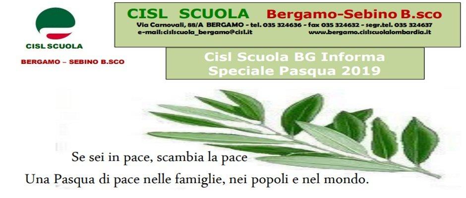 NOTIZIARIO CISL SCUOLA BERGAMO - SPECIALE PASQUA 2019