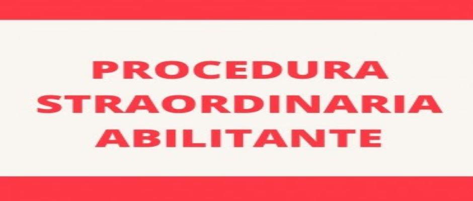 PROCEDURA  STRAORDINARIA ABILITANTE