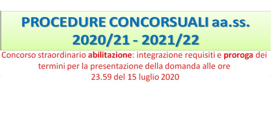 SCADENZE PROCEDURE CONCORSUALI