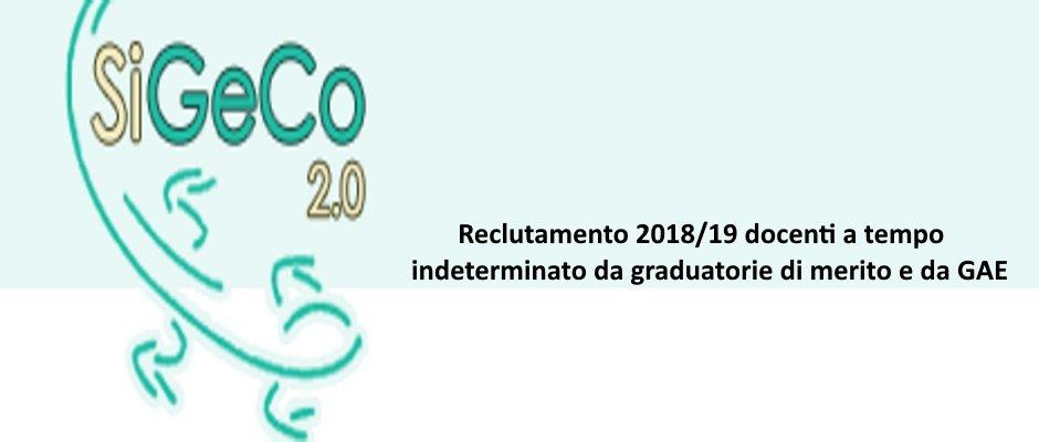 RECLUTAMENTO  2018/19 DOCENTI A TEMPO INDETERMINATO DA GRADUATORIE DI MERITO E DA GAE