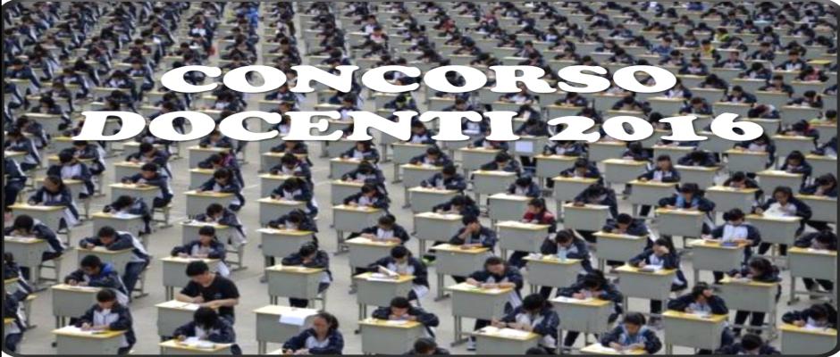 CONCORSO ORDINARIO 2016: CALENDARIO PROVE SCRITTE