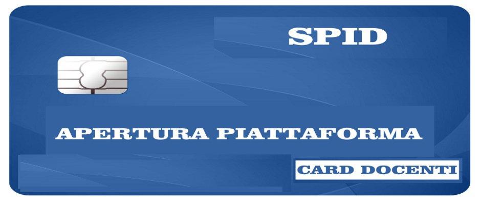 CARTA DEL DOCENTE: APERTURA PIATTAFORMA