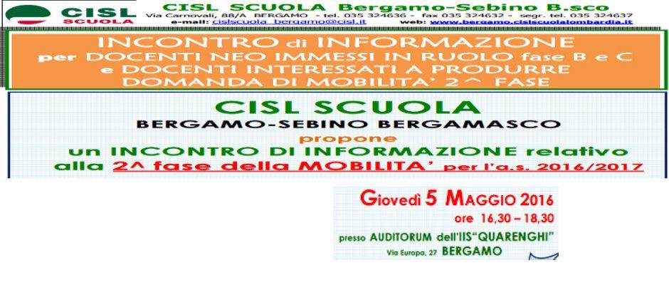 AVVISO INCONTRO DI INFORMAZIONE MOBILITA' 2^ FASE