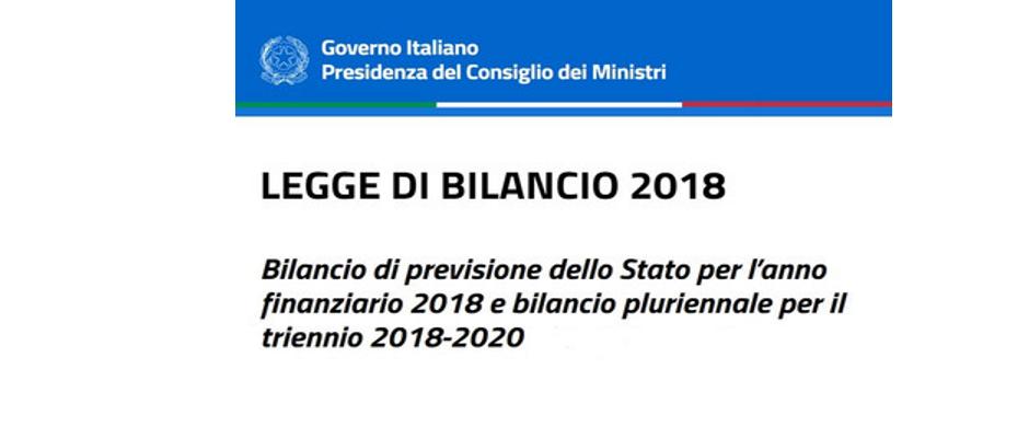 LEGGE DI BILANCIO 2018, LE DISPOSIZIONI CHE RIGUARDANO LA SCUOLA