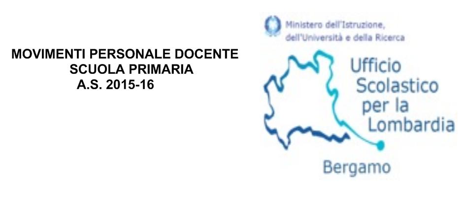 MOVIMENTI PERSONALE DOCENTE SCUOLA PRIMARIA – A.S. 2015-16