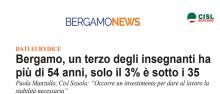 Bergamo, un terzo degli insegnanti ha  più di 54 anni, solo il 3% è sotto i 35