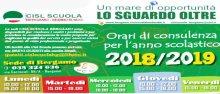 Orari delle sedi CISL Scuola Bergamo in vigore dal 1 settembre 2018
