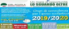 Orario di consulenza sedi zonali CISL Scuola Bergamo Sebino Bergamasco 2019/20