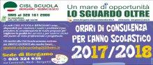 Orari della Cisl Scuola Bergamo per l'anno scolastico 2017 2018